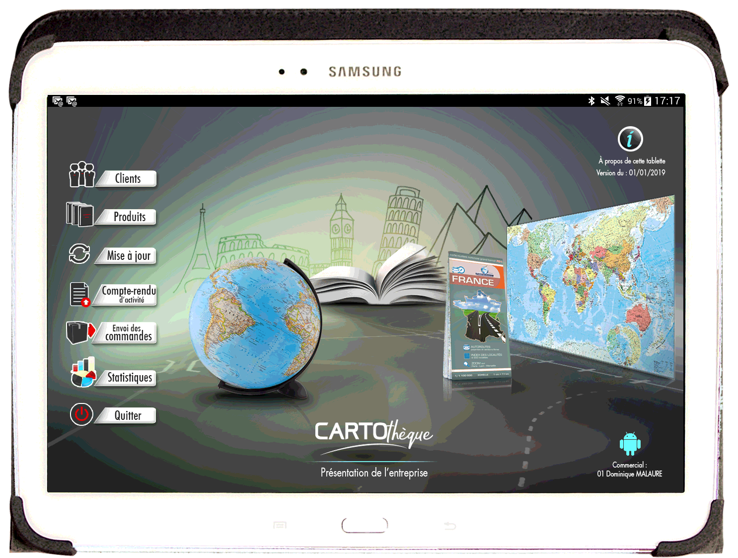 tablette cartotheque