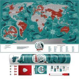 CARTE À GRATTER MARINE WORLD PLASTIQUE- 40 X 60 CM