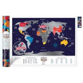 CARTE À GRATTER HOLIDAY WORLD PAPIER - 60 X 80 CM