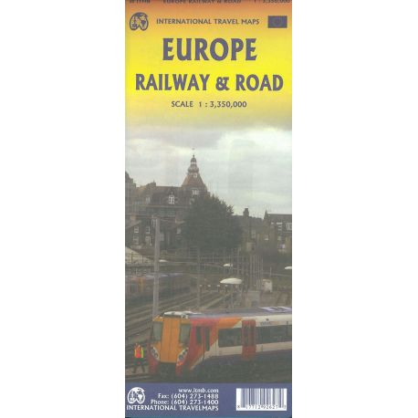 EUROPE RAIL AND TRAVEL MAP