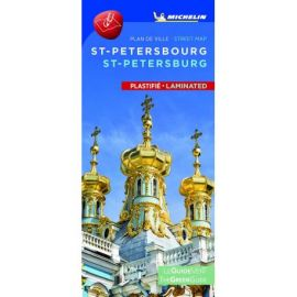 SAINT PETERSBOURG PLAN DE VILLE PLASTIFIE