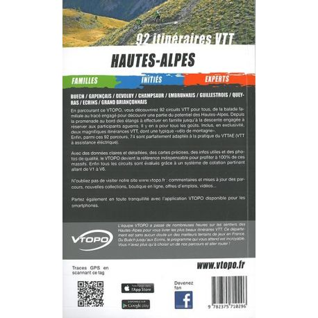 HAUTES ALPES 92 ITINERAIRES VTT FAMILLE/INITIES/EXPERTS