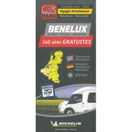 BENELUX CARTE DES AIRES GRATUITES CAMPING-CARS ET VANS
