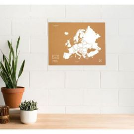 WOODY MAP L - EUROPE BLANC 60 CM X 45 CM