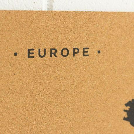 WOODY MAP L - EUROPE NOIR 60 CM X 45 CM