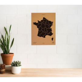 WOODY MAP L - FRANCE NOIR 60 CM X 45 CM
