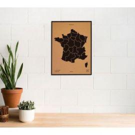WOODY MAP L - FRANCE CADRE NOIR 63 CM X 48 CM