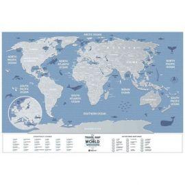CARTE À GRATTER WEEK-END WORLD PAPIER (40 X 60 CM)