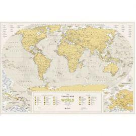CARTE À GRATTER GEOGRAPHY WORLD PAPIER (60 X 88 CM)