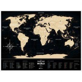 CARTE À GRATTER BLACK WORLD PLASTIQUE (60 X 80 CM)