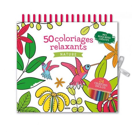 50 COLORIAGES RELAXANTS - NATURE