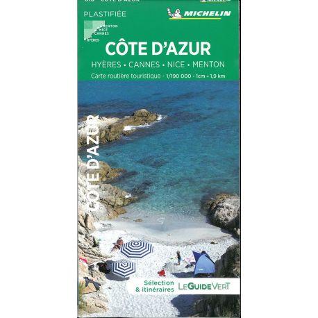 COTE D AZUR - HYERES-CANNES-NICE- MENTON - PLASTIFIEE