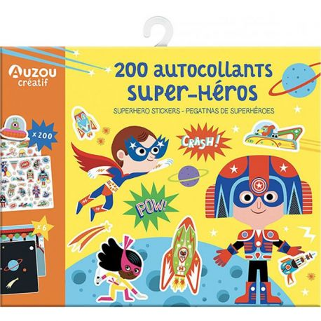 200 AUTOCOLLANTS SUPER-HEROS