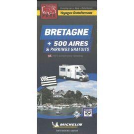 BRETAGNE CARTE DES AIRES GRATUITES CAMPING-CARS  VANS  MOTORHOMES
